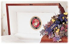 Veterans Casket with Flowers